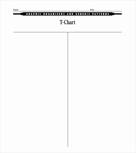 T Chart Template Word Elegant 8 Sample T Charts