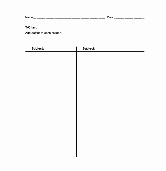 T Chart Template Word Inspirational 16 T Chart Templates Doc Pdf