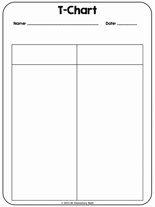 T Chart Template Word Inspirational Blank Chart Template Example Mughals