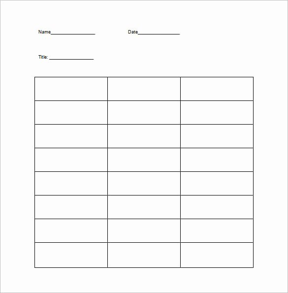 T Chart Template Word Inspirational T Chart Template 15 Examples In Pdf Word Excel