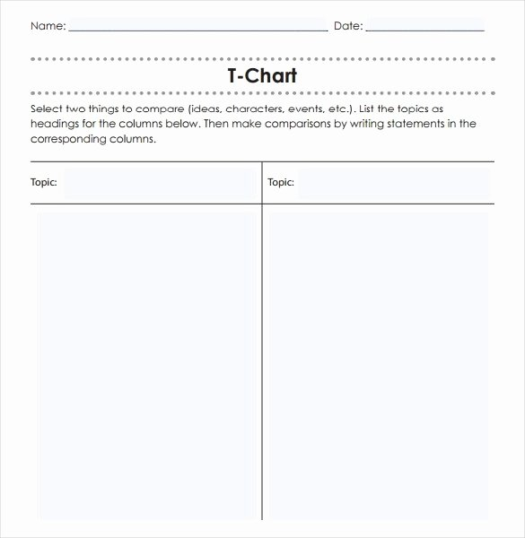 T Chart Template Word Inspirational T Chart Template