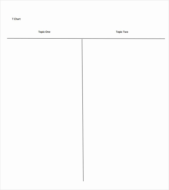 T Chart Template Word Luxury 8 Sample T Charts