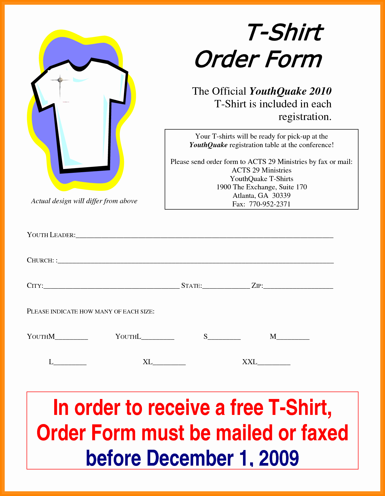 T Shirt Invoice Template New 5 T Shirt order form Template Excel