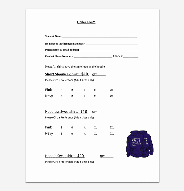 T Shirt order Template Best Of T Shirt order form Template 17 Word Excel Pdf