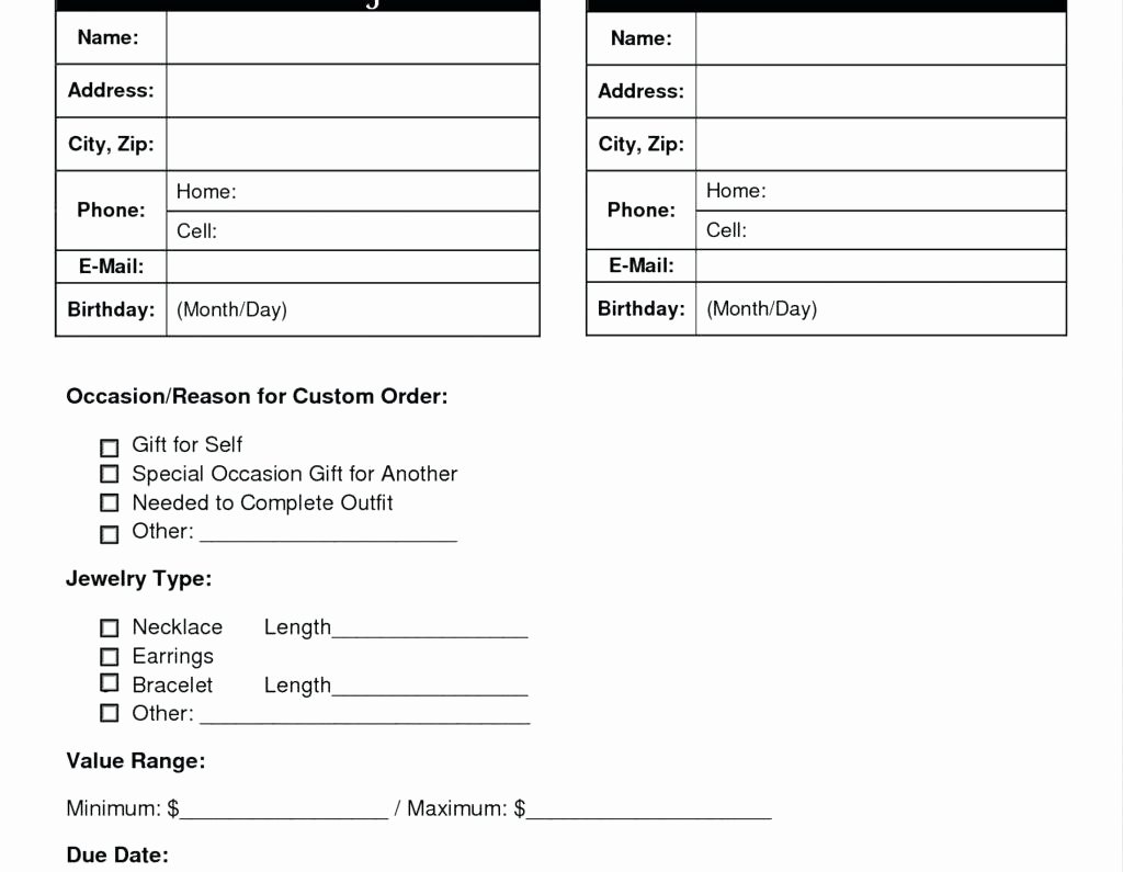 T Shirt order Template Elegant Printable T Shirt order form Template