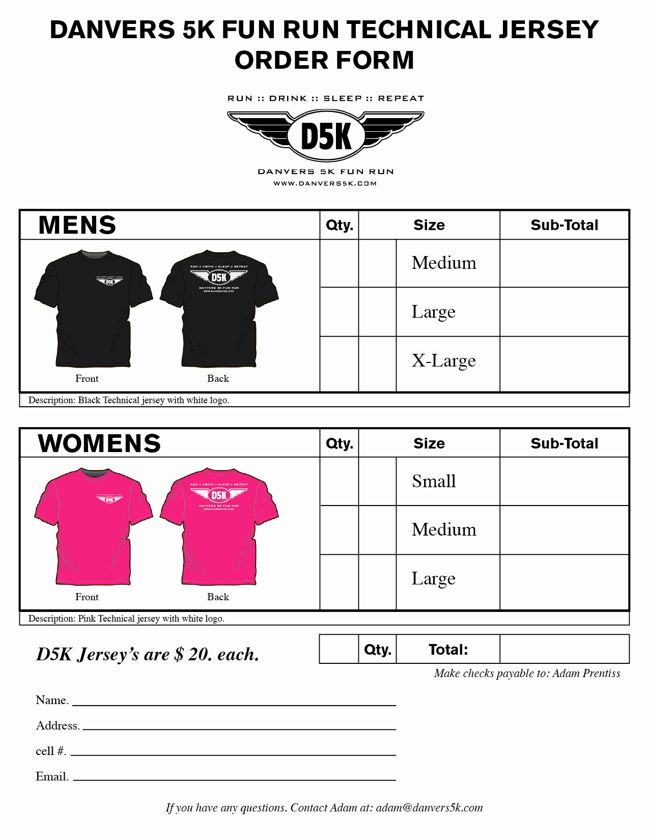 T Shirt order Template Elegant T Shirt order form Template