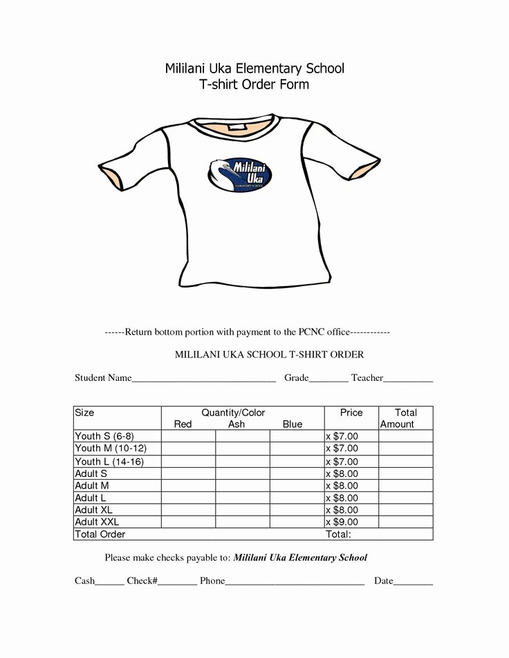 T Shirt order Template Lovely School T Shirt order form Template Clothes
