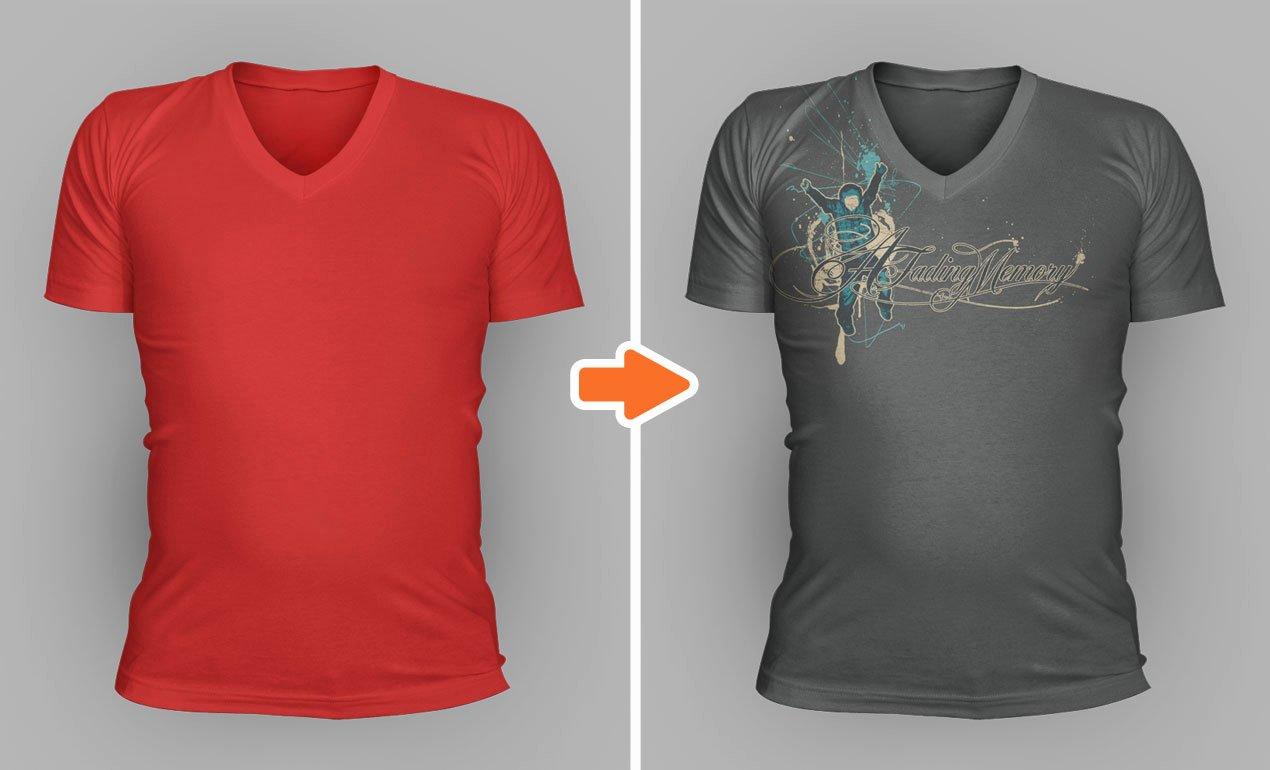T Shirt Photoshop Template Lovely Shop V Neck Shirt Mockup Templates Pack