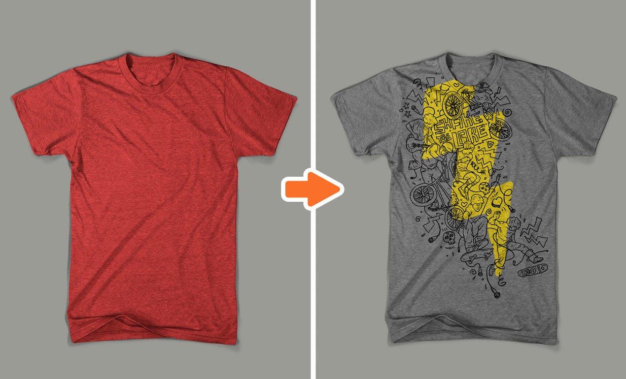 T Shirt Photoshop Template New Shop Men S Tri Blend Mockup Templates Pack