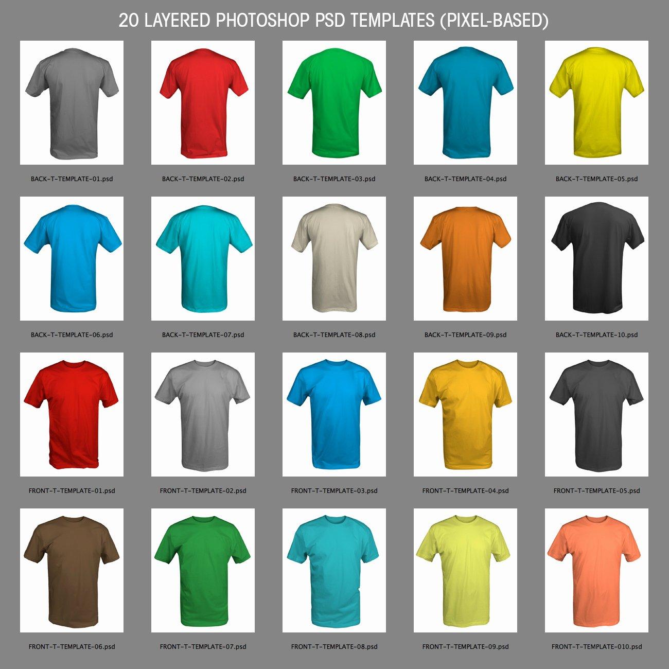 T Shirt Template for Photoshop Elegant Shirt Templates 01