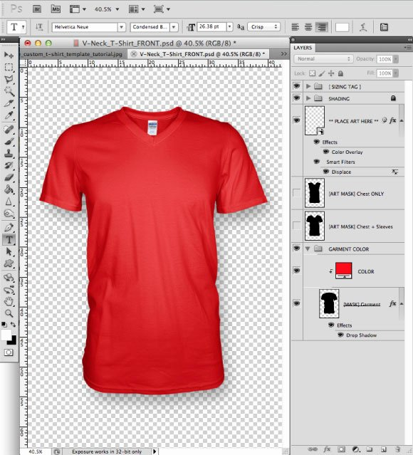 T Shirt Template for Photoshop Lovely Marle Colored T Shirt Design Template In 6 Steps Photoshop