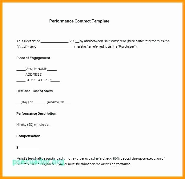 Talent Management Contract Template Luxury Talent Contract Template – Vitaesalute