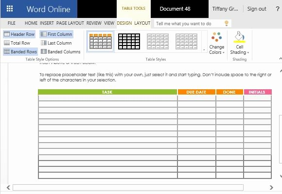 Task List Template Word Fresh School Project Task List Maker Template for Word