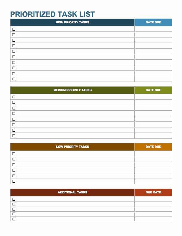 Task List Template Word Inspirational 15 Free Task List Templates Smartsheet