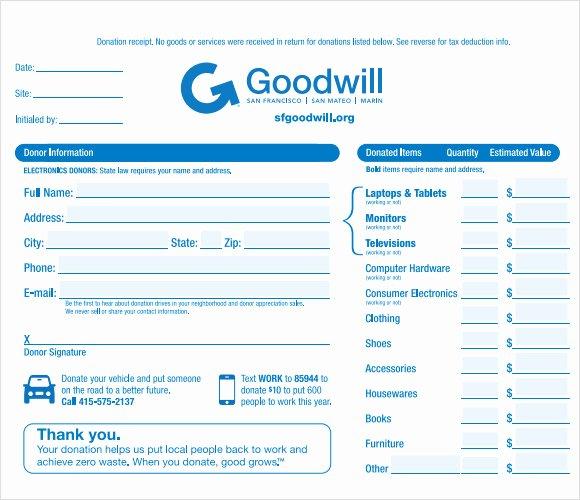 Tax Deductible Donation Receipt Template Awesome 10 Donation Receipt Templates – Free Samples Examples