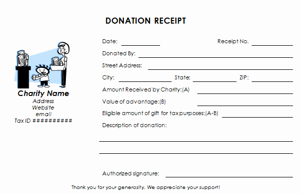 Tax Deductible Donation Receipt Template Beautiful Tax Deductible Donation Receipt Template