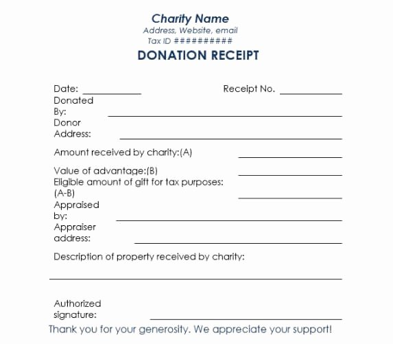 Tax Deductible Donation Receipt Template Best Of 16 Donation Receipt Template Samples