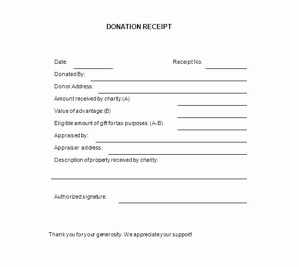 Tax Deductible Donation Receipt Template Best Of Tax Deductible Receipt Template Charity Receipt Template