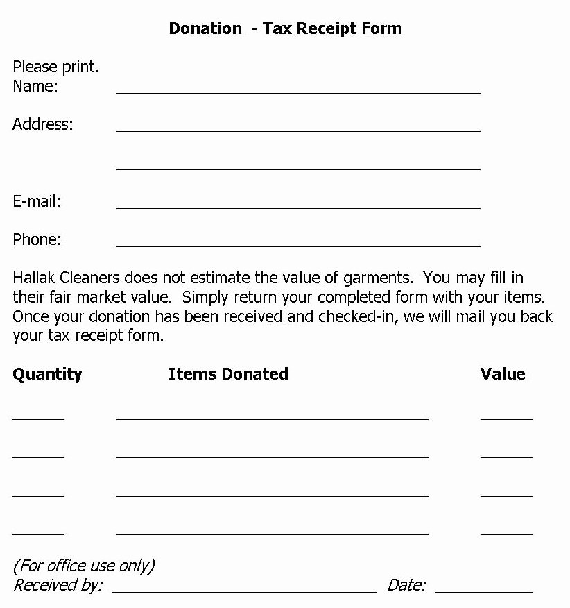 Tax Deductible Donation Receipt Template Elegant Hallak Cleaners Donation Drive Held at Hallak Cleaners