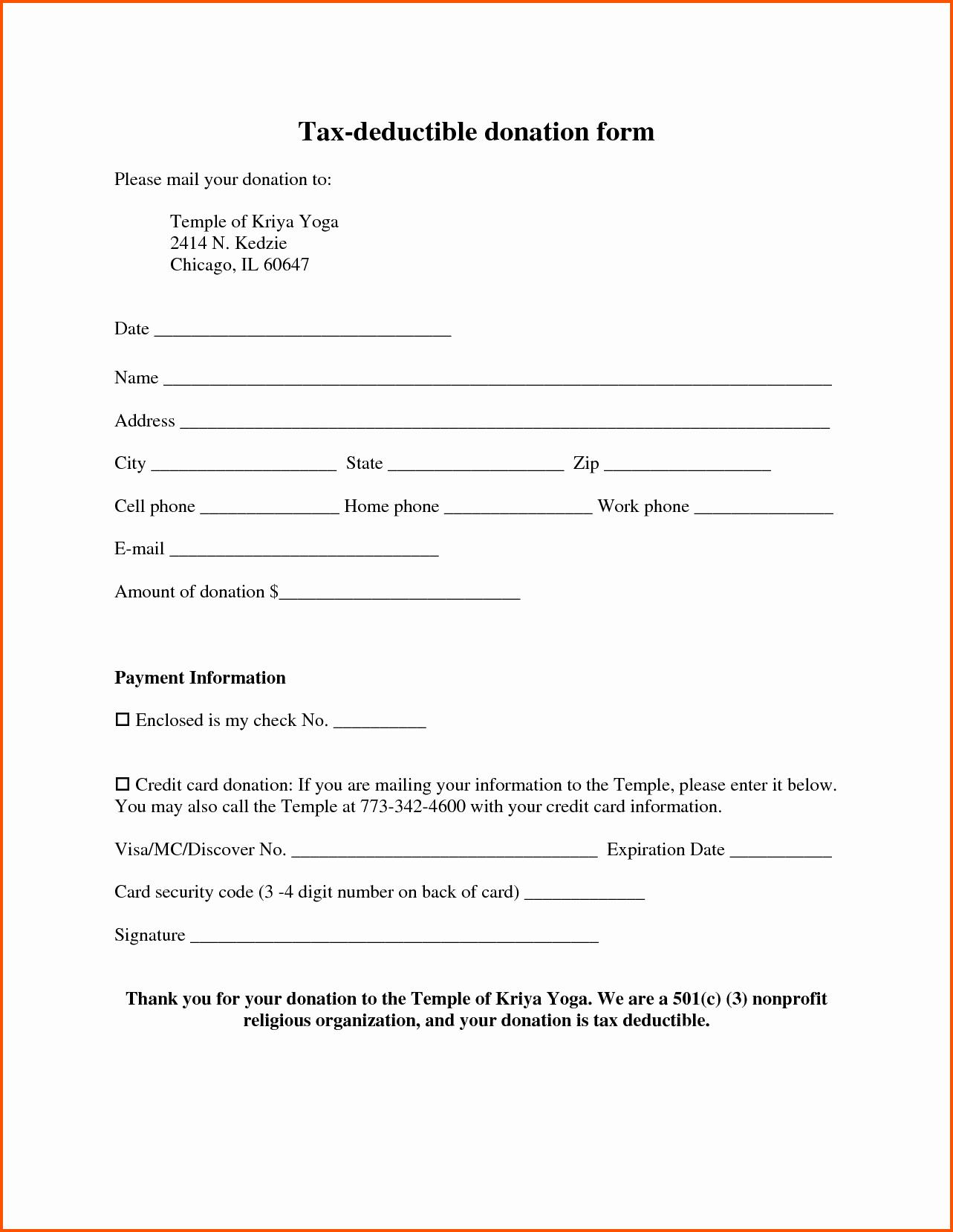 Tax Deductible Donation Receipt Template Inspirational Professional Receipt Portablegasgrillweber