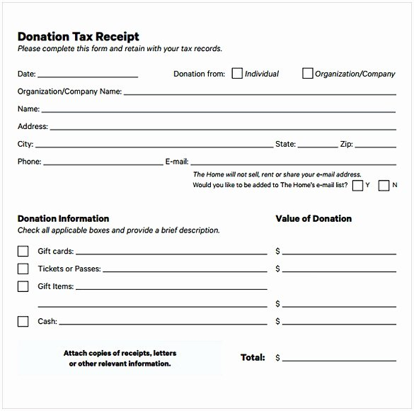 Tax Deductible Donation Receipt Template Lovely Non Profit Donation Receipt Template