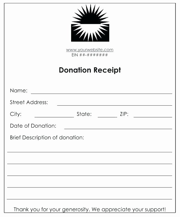 Tax Deductible Donation Receipt Template Luxury Donation Receipt Template Doc Tax Church – Studiorc