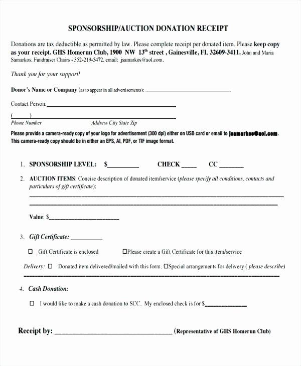 Tax Deductible Donation Receipt Template New Donation Card Template Charity Receipt Fees format Church