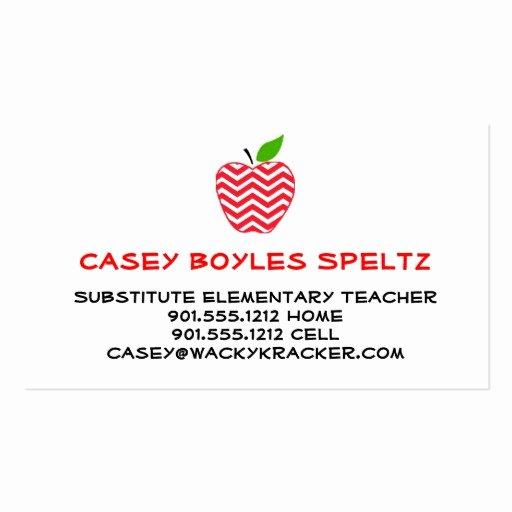 Teacher Business Card Template Awesome Kindergarten Teacher Business Cards