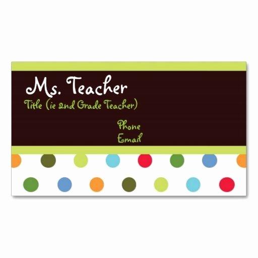 Teacher Business Card Template Beautiful 25 Best Ideas About Teacher Business Cards On Pinterest