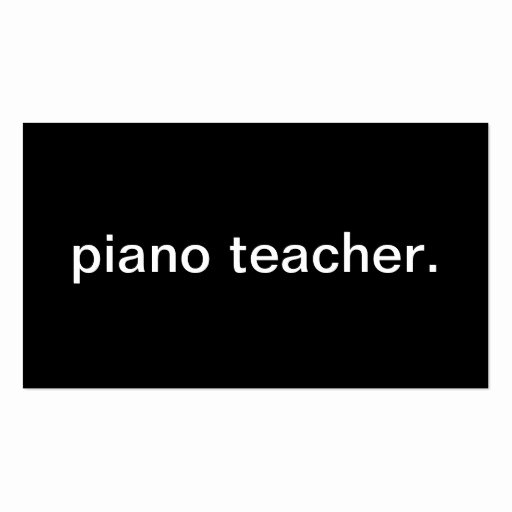Teacher Business Card Template Best Of Piano Teacher Double Sided Standard Business Cards Pack