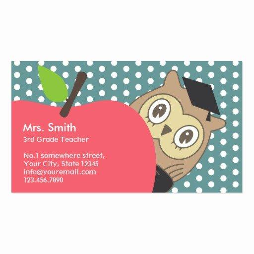 Teacher Business Card Template Best Of Premium Teacher Business Card Templates