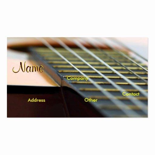 Teacher Business Card Template Elegant Guitar Music Teacher Double Sided Standard Business Cards