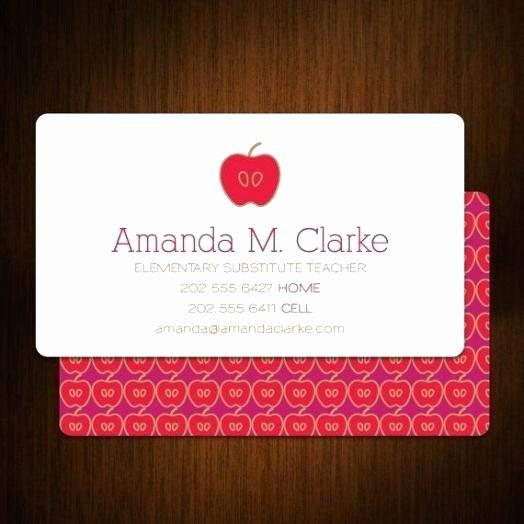 Teacher Business Card Template Elegant Teacher Business Cards Best – Sharlottesreflections