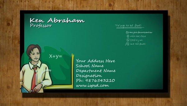 Teacher Business Card Template Lovely 38 Free Psd Business Card Templates 85ideas