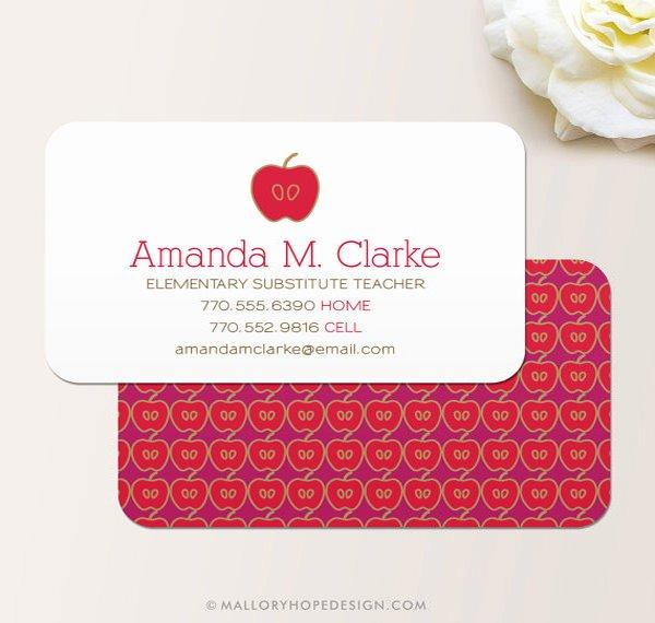 Teacher Business Card Template Lovely Business Cards for Teachers 51 Free Psd format Download