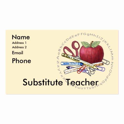 Teacher Business Card Template Lovely Teacher Business Card Templates Page12