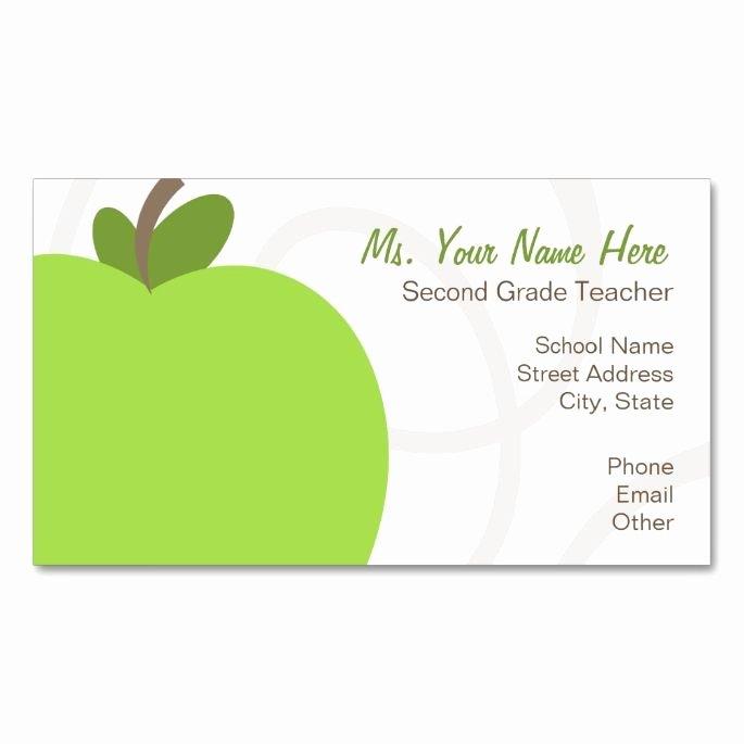 Teacher Business Card Template Luxury 1000 Images About Teacher Business Cards On Pinterest