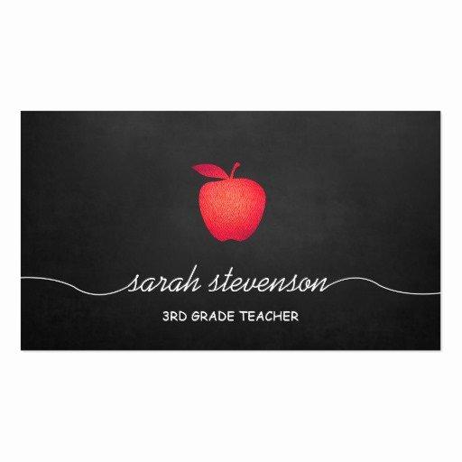 Teacher Business Card Template Luxury Teacher Business Card Templates