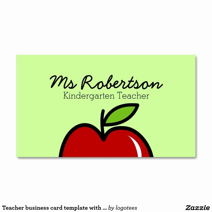 Teacher Business Card Template New Best 25 Teacher Business Cards Ideas Only On Pinterest