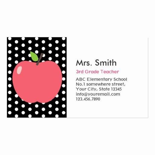 Teacher Business Card Template New Teacher Business Card Templates Page5