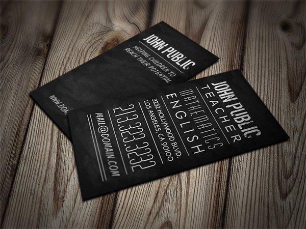 Teacher Business Card Template Unique Business Cards for Teachers 51 Free Psd format Download