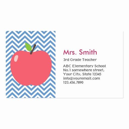 Teacher Business Card Template Unique Teacher Business Card Templates