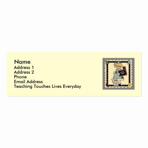 Teacher Business Card Template Unique Teacher Business Card Templates Page15
