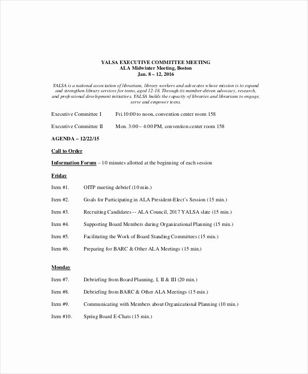 Team Meeting Agenda Template Fresh 10 Team Meeting Agenda Templates – Free Sample Example
