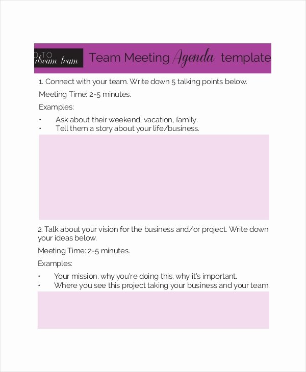 Team Meeting Agenda Template Fresh Business Meeting Agenda Template – 10 Free Word Pdf