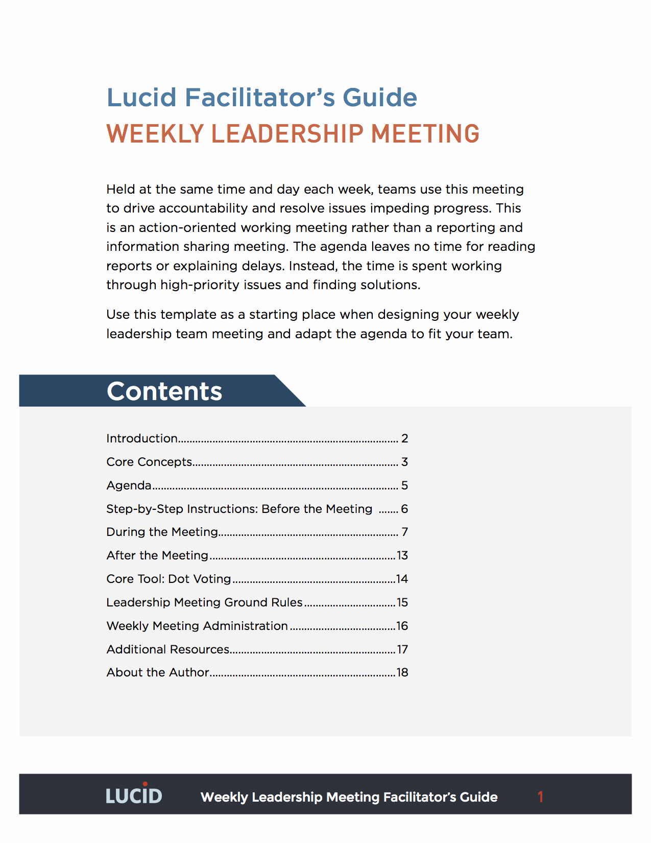 Team Meeting Agenda Template Inspirational Weekly Leadership Team Meeting
