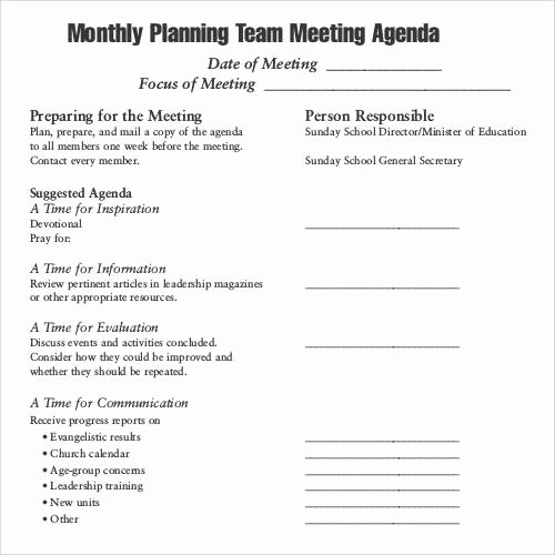 Team Meeting Agenda Template Lovely 41 Agenda Templates