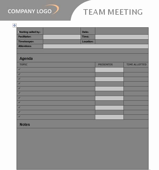 Team Meeting Agenda Template Lovely Team Meeting Agenda Template Microsoft Word Templates