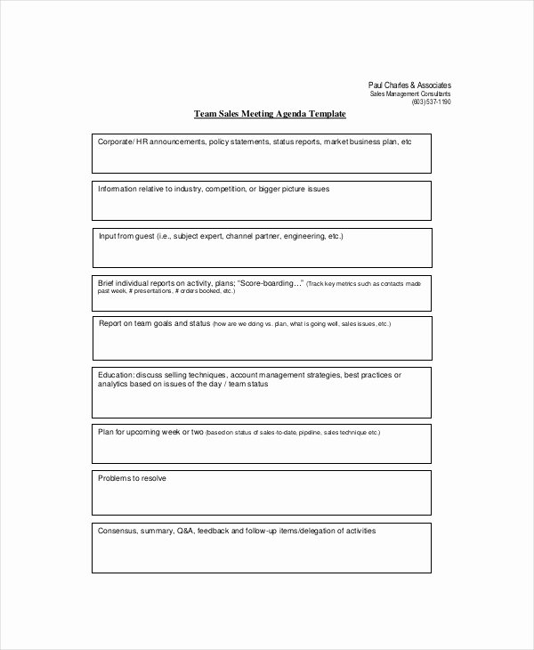 Team Meeting Agenda Template Luxury Sales Meeting Agenda Template – 11 Free Word Pdf