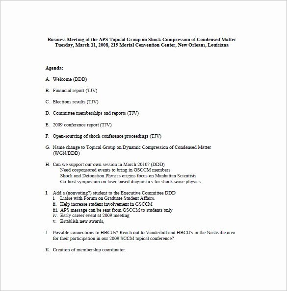 Template for Corporate Minutes Awesome Business Meeting Minutes Template 12 Free Sample